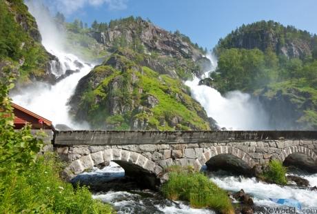 Wasserfall Latefossen